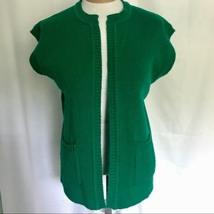 🆕 Vintage Kelly Green Sweater Vest | Holmes